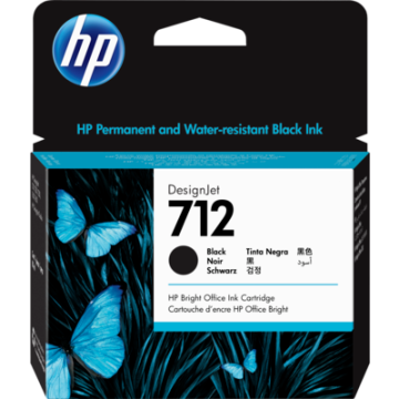 HP 712 80ml Black  Ink